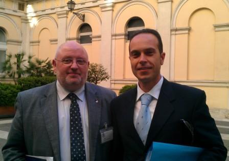 Alfio Messina com Emmanuel Jacob, Presidente di EUROMIL