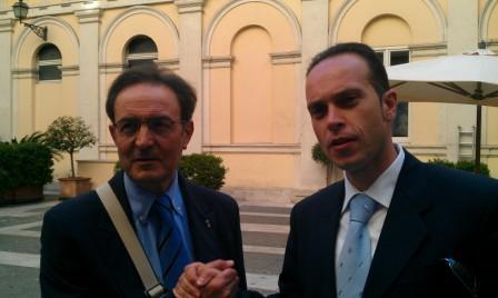 Alfio Messina insieme ad Emilio Ammiraglia, Presidente di Assodipro
